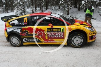 © North One Sport Ltd.2010 / Octane Photographic Ltd.2010. WRC Sweden shakedown stage. February 11th 2010. Digital Ref : 0129CB1D1204