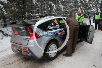 © North One Sport Ltd.2010 / Octane Photographic Ltd.2010. WRC Sweden shakedown stage. February 11th 2010, Kimi Raikkonen/Kaj Lindstrom, Citroen C4 WRC. Digital Ref : 0129CB1D1205