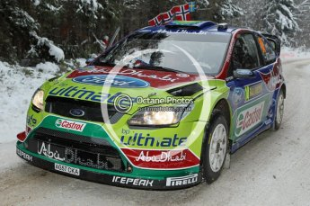 © North One Sport Ltd.2010 / Octane Photographic Ltd.2010. WRC Sweden shakedown stage. February 11th 2010. Digital Ref : 0129CB7D1246