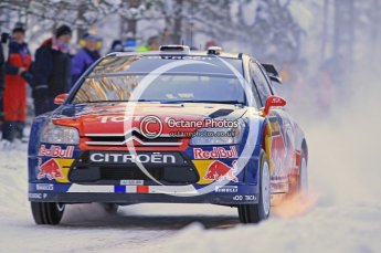 © North One Sport Ltd.2010 / Octane Photographic Ltd.2010. WRC Sweden SS3. February 12th 2010, Sebastien Loeb/Daniel Elena, Citroen C4 WRC. Digital Ref : 0130CB1D1653