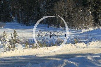 © North One Sport Ltd.2010 / Octane Photographic Ltd.2010. WRC Sweden SS5. February 12th 2010, fans standing on a frozen river. Digital Ref : 0132CB1D1811