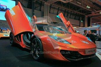 © Octane Photographic Ltd. Autosport International 2011, January 14th 2011. McLaren display. MP4/12C. Digital ref : 0045CB1D5203