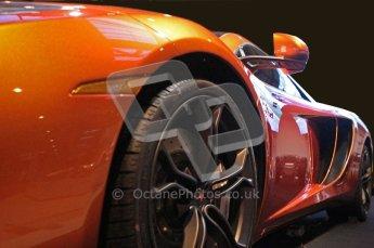 World © Octane Photographic 2010. © Octane Photographic 2011. Autosport International 2011. McLaren display. MP4/12C. Digital ref : 0026CB1D5203