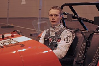 World © Octane Photographic Ltd. McLaren Autosport BRDC Young Drivers. January 14th 2011. Nigel Moore in Caterham 7 demonstration car. Digital Ref : 0871cb1d0004