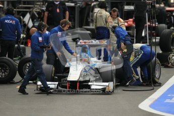 © Octane Photographic Ltd. 2011. Belgian Formula 1 GP, GP2 Race 2 - Sunday 28th August 2011. Barwa Addex Team getting Charles Pic's car ready to line up on the grid. Digital Ref : 0205cb1d0019