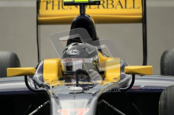 © Octane Photographic Ltd. 2011. Belgian Formula 1 GP, GP2 Race 2 - Sunday 28th August 2011. Adam Carroll of Sper Nova looking into his mirror. Digital Ref : 0205cb1d0067
