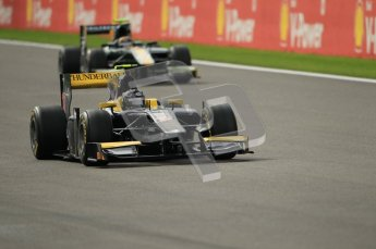 © Octane Photographic Ltd. 2011. Belgian Formula 1 GP, GP2 Race 2 - Sunday 28th August 2011. Adam Carroll on track at Spa. Digital Ref : 0205cb1d0176