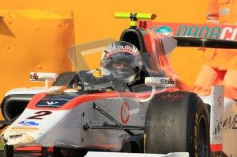© Octane Photographic Ltd. 2011. Belgian Formula 1 GP, GP2 Race 2 - Sunday 28th August 2011. Cockpit shot of Julian Leal of Rapax Team. Digital Ref : 0205cb1d0229