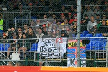 © Octane Photographic Ltd. 2011. Belgian Formula 1 GP, GP2 Race 2 - Sunday 28th August 2011. Keep F1 on BBC fans. Digital Ref : 0205cb1d0247