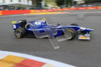 © Octane Photographic Ltd. 2011. Belgian Formula 1 GP, GP2 Race 2 - Sunday 28th August 2011. Oliver Turvey of Carlin in the middle of La Source. Digital Ref : 0205cb7d0089
