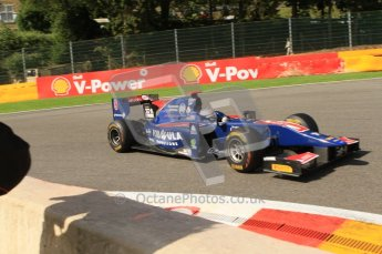 © Octane Photographic Ltd. 2011. Belgian Formula 1 GP, GP2 Race 2 - Sunday 28th August 2011. Sam Bird of iSport International taking a tight racing line into La Source. Digital Ref : 0205cb7d0337