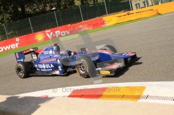© Octane Photographic Ltd. 2011. Belgian Formula 1 GP, GP2 Race 2 - Sunday 28th August 2011. Sam Bird of iSport International racing around La Source. Digital Ref : 0205cb7d0361