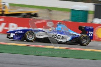 World © Octane Photographic Ltd. 2011. Belgian GP, GP3 Practice session - Saturday 27th August 2011. Zoel Amberg of Atech CRS GP racing around La Source.  Digital Ref : 0204lw7d3731