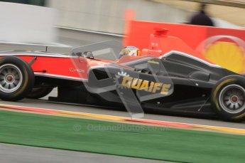 World © Octane Photographic Ltd. 2011. Belgian GP, GP3 Practice session - Saturday 27th August 2011. Adrian Quaife-Hobbs of Marussia Manor Racing. Digital Ref : 0204lw7d3895