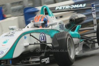 © Octane Photographic 2011 – British Formula 3 - Donington Park - Race 2. 25th September 2011, Jazeman Jaafar - Carlin - Dallara F308 Volkswagen. Digital Ref : 0186lw1d6488
