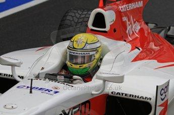 World © Octane Photographic Ltd. 2011. British GP, Silverstone, Friday 8th July 2011. GP2 Practice Session Pit Lane. Luiz Razia - Caterham Team AirAsia Digital Ref: LW7D4519