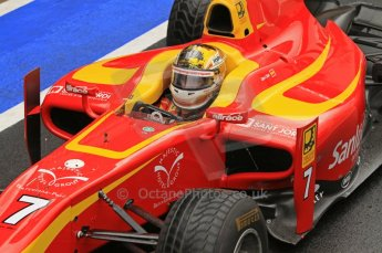 World © Octane Photographic Ltd. 2011. British GP, Silverstone, Saturday 9th July 2011. GP2 Practice Session Pit Lane. Dani Clos - Racing Engineering Digital Ref: 0108LW7D5381