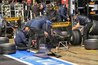World © Octane Photographic Ltd. 2011. British GP, Silverstone, Saturday 9th July 2011. GP2 Practice Session Pit Lane. Super Nova's in the Pits Digital Ref: 0108LW7D5813