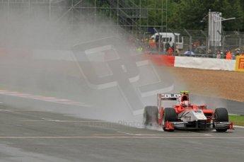 World © Octane Photographic Ltd. 2011. British GP, Silverstone, Saturday 9th July 2011. GP2 Practice Session Pit Lane. Luca Filippi - Scuderia Coloni Digital Ref: 0108LW7D5893