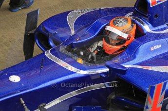 World © Octane Photographic Ltd. 2011. British GP, Silverstone, Saturday 9th July 2011. GP2 Practice Session Pit Lane. Max Chilton - Carlin Digital Ref: 0108LW7D6132