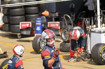 World © Octane Photographic Ltd. 2011. British GP, Silverstone, Saturday 9th July 2011. GP2 Race 1. iSport International Pit Crew waiting for Driver to Pit. Digital Ref: 0109LW7D6249