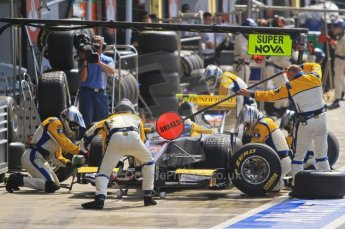 World © Octane Photographic Ltd. 2011. British GP, Silverstone, Saturday 9th July 2011. GP2 Race 1. Adam Carroll - Super Nova in Pit Stop. Digital Ref: 0109LW7D6285