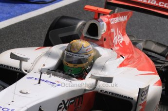 World © Octane Photographic Ltd. 2011. British GP, Silverstone, Saturday 9th July 2011. GP2 Race 1. Luiz Razia - Caterham Team AirAsia Digital Ref: 0109LW7D6342
