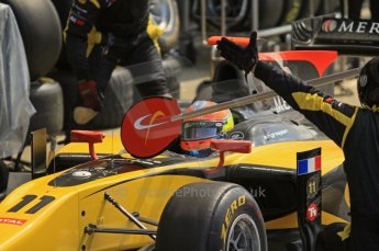 World © Octane Photographic Ltd. 2011. British GP, Silverstone, Saturday 9th July 2011. GP2 Race 1. Romain Grosjean - DAMS Digital Ref: 0109LW7D6408
