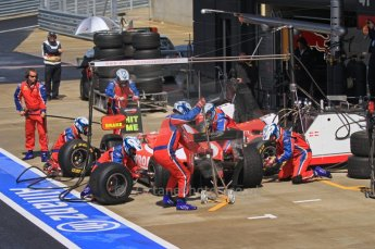 World © Octane Photographic Ltd. 2011. British GP, Silverstone, Saturday 9th July 2011. GP2 Race 1. Arden International Pit Stop Action. Digital Ref: 0109LW7D6494