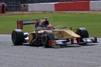 World © Octane Photographic Ltd. 2011. British GP, Silverstone, Saturday 9th July 2011. GP2 Race 1. Romain Grosjean - DAMS. Digital Ref: 0109LW7D6558