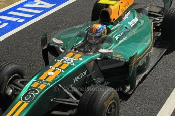 World © Octane Photographic Ltd. 2011. British GP, Silverstone, Saturday 9th July 2011. GP2 Race 1. Esteban Gutiérrez - Lotus ART. Digital Ref: 0109LW1D2512