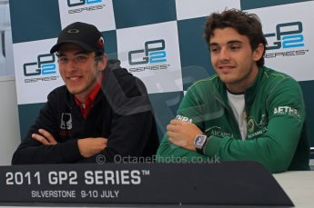 World © Octane Photographic Ltd. 2011. British GP, Silverstone, Saturday 9th July 2011. GP2 Race 1. Race 1 Press Conference. Digital Ref: 0109LW1D2636