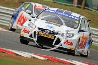 © Octane Photographic Ltd. 2011. British Touring Car Championship – Snetterton 300, Tom Onslow-Cole and Tom Chilton - Ford Focus - Team Aon. Saturday 6th August 2011. Digital Ref : 0121CB7D9480