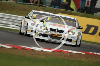 © Octane Photographic Ltd. 2011. British Touring Car Championship – Snetterton 300, Rob Collard leads Nick Foster - BMW320i - WSR. Saturday 6th August 2011. Digital Ref : 0121CB7D9585