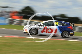© Octane Photographic Ltd. 2011. British Touring Car Championship – Snetterton 300, Andy Neate - Ford Focus - Team Aon. Sunday 7th August 2011. Digital Ref : 0124CB7D0034