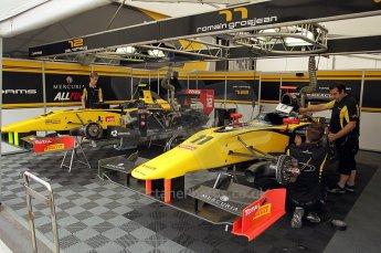 © Octane Photographic Ltd. 2011. European Formula1 GP, Friday 24th June 2011. GP2 Practice. Dams garage. Digital Ref: 0082CB1D6140