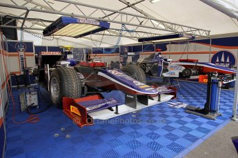 © Octane Photographic Ltd. 2011. European Formula1 GP, Friday 24th June 2011. GP2 Practice. Trident Racing garage. Digital Ref: 0082CB1D6145