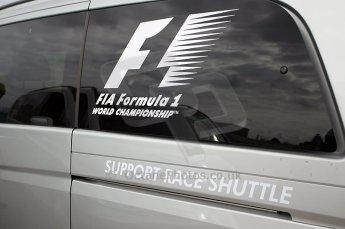 © Octane Photographic Ltd. 2011. European Formula1 GP, Friday 24th June 2011. GP2 Practice. Official Mercedes support race shuttle. Digital Ref: 0082CB1D6155