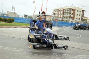 © Octane Photographic Ltd. 2011. European Formula1 GP, Friday 24th June 2011. GP2 Practice. Carlin's mobile garage. Digital Ref: 0082CB1D6165