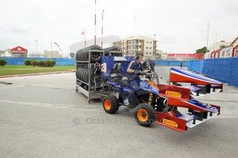 © Octane Photographic Ltd. 2011. European Formula1 GP, Friday 24th June 2011. GP2 Practice. Trident racing's mobile garage. Digital Ref: 0082CB1D6172