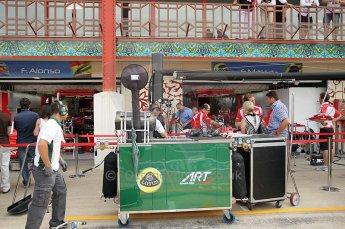 © Octane Photographic Ltd. 2011. European Formula1 GP, Friday 24th June 2011. GP2 Practice. Lotus ART compressed air rig. Digital Ref: 0082CB1D6204