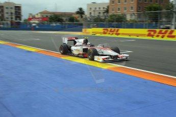 © Octane Photographic Ltd. 2011. European Formula1 GP, Friday 24th June 2011. GP2 Practice. Julian Leal - Rapax. Digital Ref: 0082CB1D6288