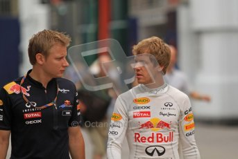 © Octane Photographic Ltd. 2011. European Formula1 GP, Friday 24th June 2011. Formula 1 paddock. Sebastian Vettel - Red Bull Racing Digital Ref:  0086LW7D6009