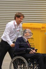 © Octane Photographic Ltd. 2011. European Formula1 GP, Friday 24th June 2011. Formula 1 paddock. Sir Frank Williams - AT&T Williams Digital Ref:  0086LW7D6201