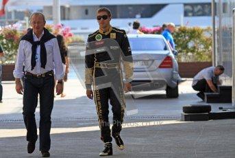 © Octane Photographic Ltd. 2011. European Formula1 GP, Saturday 25th June 2011. Formula 1 paddock. Vitaly Petrov - Lotus Renault GP Digital Ref: 0087LW7D6216