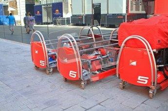 © Octane Photographic Ltd. 2011. European Formula1 GP, Saturday 25th June 2011. Formula 1 paddock. Scuderia Ferrari Marlboro Tyre Trolley Digital Ref: 0087LW7D6355