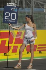 © Octane Photographic Ltd. 2011. European Formula1 GP, Sunday 26th June 2011. GP2 Sunday race. Rodolfo González - Trident Racing Grid Girl. Digital Ref: 0090CB1D8996
