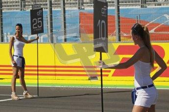 © Octane Photographic Ltd. 2011. European Formula1 GP, Sunday 26th June 2011. GP2 Sunday race. Grid Girls. Digital Ref:  0090CB1D9089