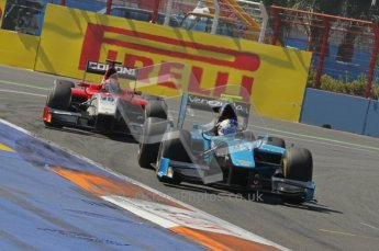 © Octane Photographic Ltd. 2011. European Formula1 GP, Sunday 26th June 2011. GP2 Sunday race. Johnny Cecotto - Ocean Racing Technology with Luca Filippi - Scuderia Coloni following. Digital Ref:  0090CB1D9281