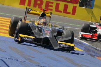 © Octane Photographic Ltd. 2011. European Formula1 GP, Sunday 26th June 2011. GP2 Sunday race. Jolyon Palmer - Arden International running wide. Digital Ref: 0090CB1D9307